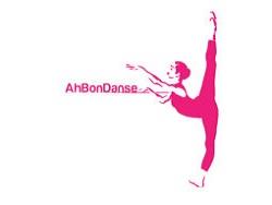 silhouette de danseuse en rose