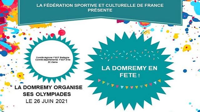 Olympiades de la Domrémy le samedi 26 juin 2021 : la FSCF es…