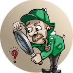 détective cherche la page