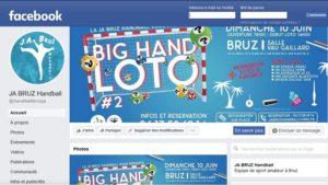 Page accueil Facebook Handball