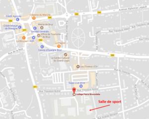 Plan de localisation de la salle Collège Pierre Brossolette