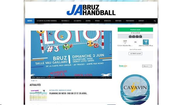 page d'accueil du site internet du Handball