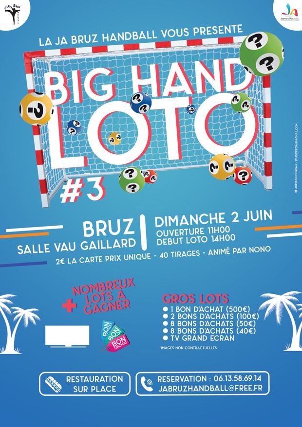 Loto organisé par la JA Handball  le dimanche 2 ju…