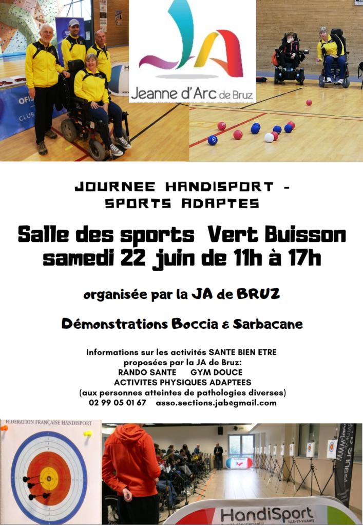 Affiche portes ouvertes Juin 2019 Handisport et Sport adapté
