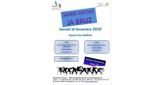 Soirée Festive JA BRUZ le samedi 16 novembre 2019