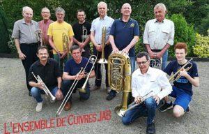 Groupe de musique ensemble de cuivre
