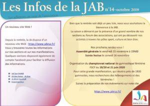 aperçu lettre info JAB Octobre 2019