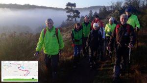 Le groupe de 11 personnes en haut de la vallée du Boel dans une ambiance magnifique brumeuse et ensoleillée