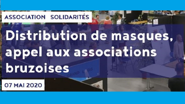 DISTRIBUTION DE MASQUES À LA POPULATION BRUZOISE :…