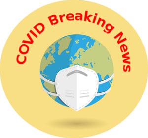 Un globe terrestre se protège du COVID avec un masque