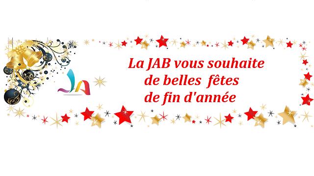 La JAB vous souhaite de belles fêtes de fin d'année