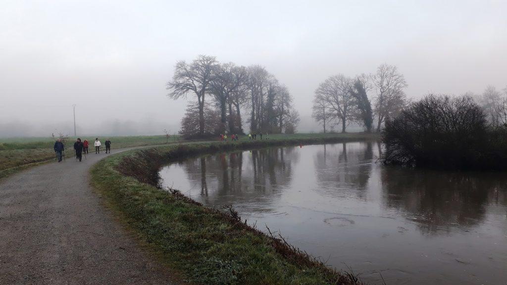 Retour vers Pont Réan dans la courbe de la Vilaine