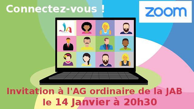 Invitation à l'AG ordinaire de la JAB du 14 Janvier 2021 à 2…