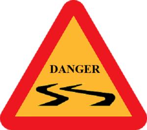 Pannea triangulaire jaune entouré de rouge Danger