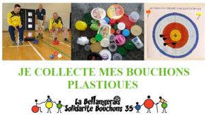Collecter vos bouchons pour la section Handisport qui pratique Sarbacane et Boocia en partenariat avec Solidarites Bouchons 35