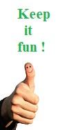 Keep it fun illustré par une main avec le pouce tendu