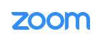 Le logo bleu de Zoom, système de visioconférence
