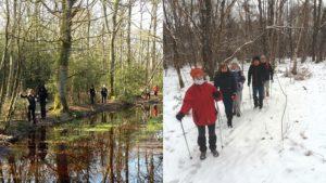 Marche dans la boue et la neige
