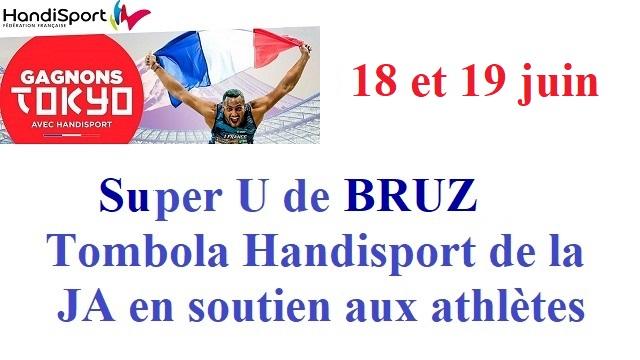 18-19 juin au Super U de Bruz : tombola Handisport…