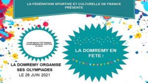 Affiche des olympiades de la Domrémy