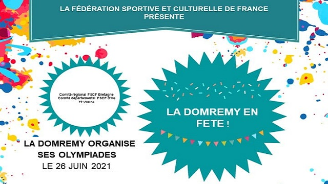 Olympiades de la Domrémy le samedi 26 juin 2021 :…
