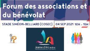 Extrait du site de la mairie indiquant lieu , date et heure du forum ainsi que le logo de la JAB