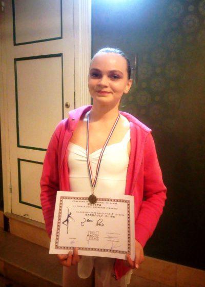 2ème place dans sa catégorie pour Elise Bardoult à la demi-finale du Concours International de Danse Petipa à Mulhouse