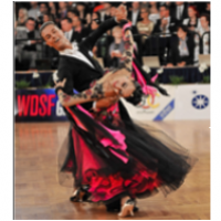 Steeve et Marioara sur la piste lors des Championnats du Monde